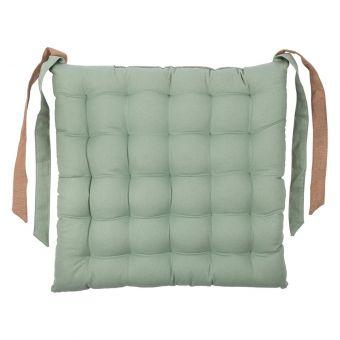 Galette de chaise Essentiel verte