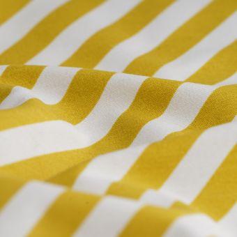 Tissu ottoman rayures diagonales jaune