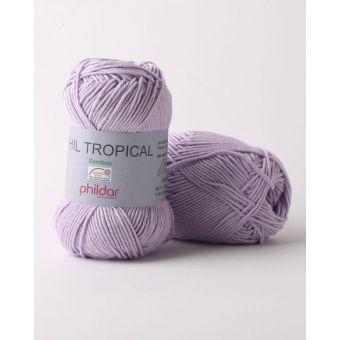 Pelote de fil à tricoter Phildar Tropical parme
