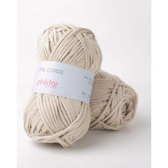 Fil à tricoter Phildar corde sable
