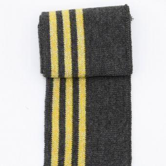 Bord cote 3 rayures gris doré