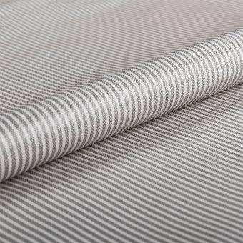 Tissu nappe enduite PVC brillant rayures gris blanc - AU Maison