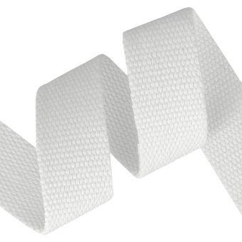 Sangle coton renforcée blanc 30mm
