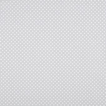 Tissu coton ponto motif petits pois gris perle