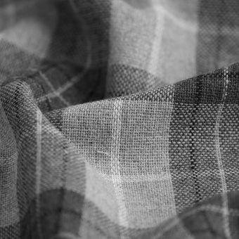 Tissu lainage carreaux gris