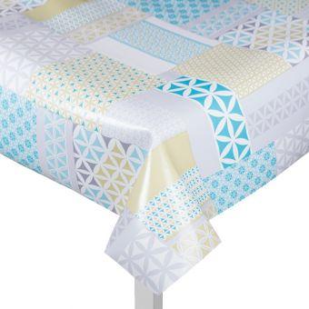 Protège table géométrique