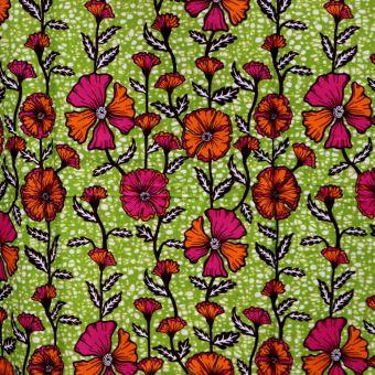 Tissu wax fleurs des champs - Karabashop