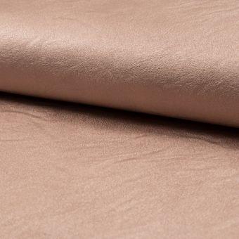 Tissu simili cuir métallisé rose