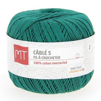 Fil à crocheter n°5 vert