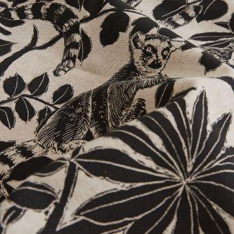 Tissu coton épais singes jungle