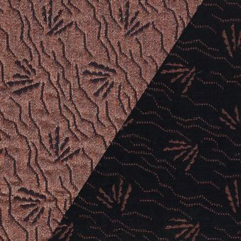 Tissu jacquard Walkie Talkie motif dune terracotta gold