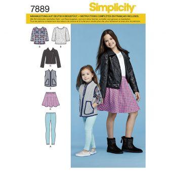 Patron Simplicity 7889 ensemble pour fille