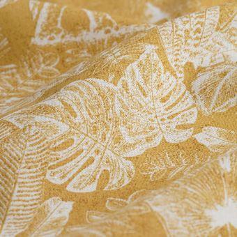 Tissu coton épais éléphant Kenya jaune