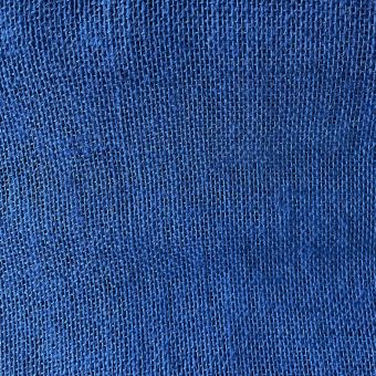 Toile de jute colorée unie bleu