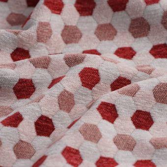Tissu velours alveole rose