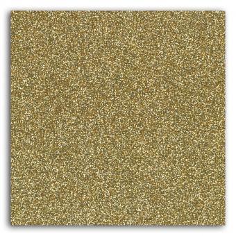 Tissu flex thermocollant pailleté doré