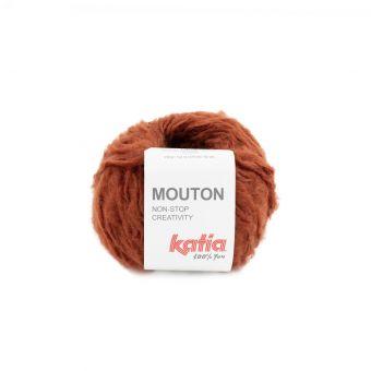 Pelote de fil à tricoter Katia Mouton rouille
