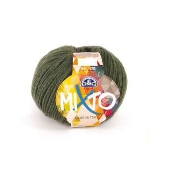 Pelote de fil à tricoter DMC Mixto vert