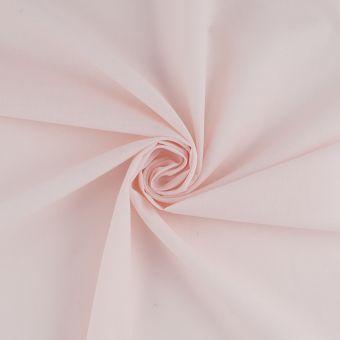 Tissu voile de coton uni rose nude