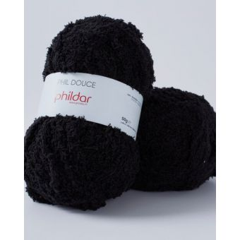 Fil à tricoter Phildar douce noir