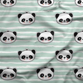 Tissu PUL pour les couches lavables panda bleu - La Panda Love Fabrics