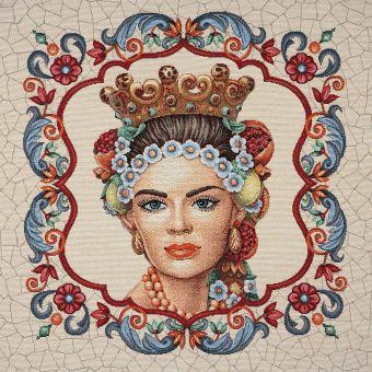 Carré de tissu jacquard princesse