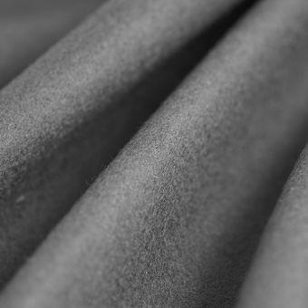 Tissu drap de laine viscose uni gris
