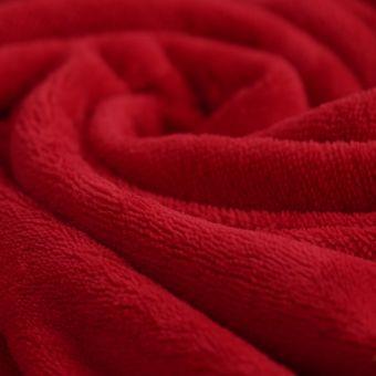 Tissu éponge bambou doudou rouge