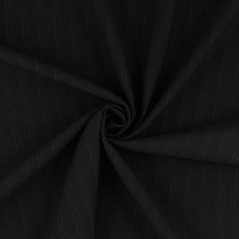Tissu laine stretch rayure tennis noir