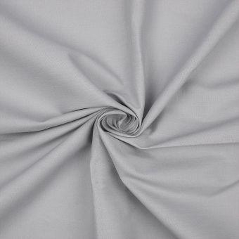 Tissu coton bio uni gris