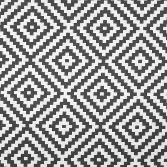 Tissu toile extérieure imprimé géométrique gris