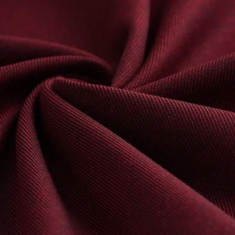 Tissu sergé Avoriaz lainage rouge