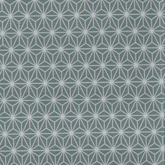 Simili cuir gris souris motif etoiles
