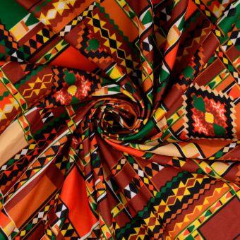 Tissu suédine ethnique multicolore