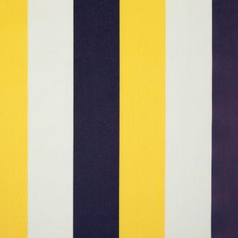 Tissu imperméable à rayures jaunes