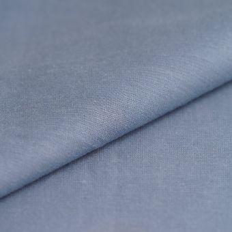 Tissu chambray coton bleu gris