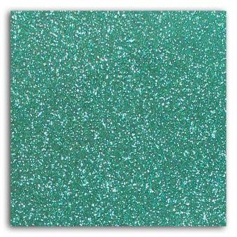Tissu flex thermocollant pailleté vert jade