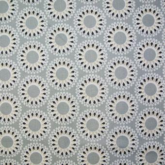 Tissu coton à motifs ethniques gris