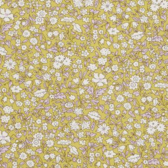 Tissu popeline de coton liberty daisy daisy jaune