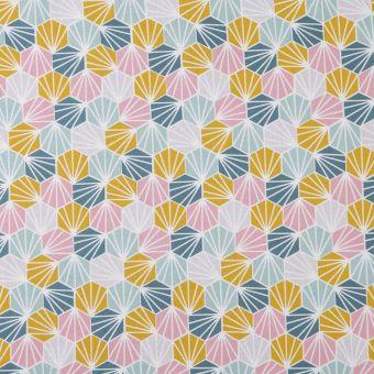 Tissu japonais origami multicolore