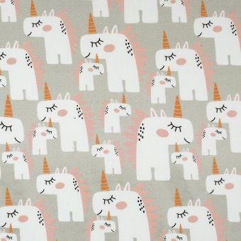 Tissu coton licornes