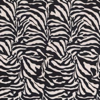 Tissu velours peau de zèbre noir
