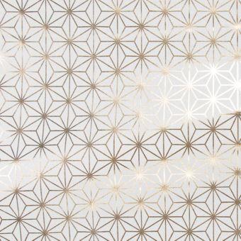 Tissu coton épais étoiles dorées