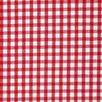 Tissu coton vichy rouge et blanc