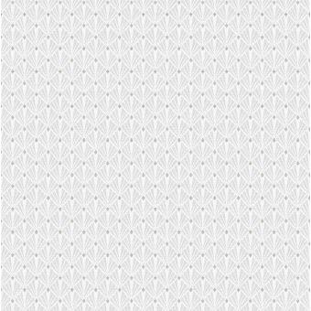 Tissu jacquard polyester gris perle art déco sinatra