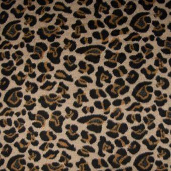 Tissu lainage polyester laine animal beige