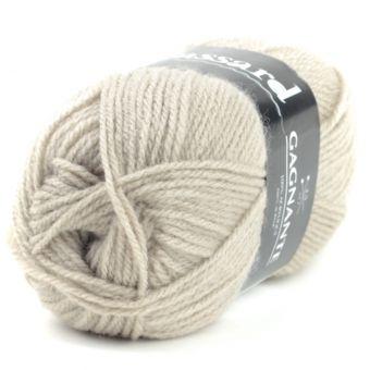 Pelote de fil à tricoter gagnante beige - Plassard