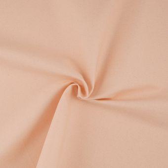 Tissu sergé rose nude à paillettes argentées