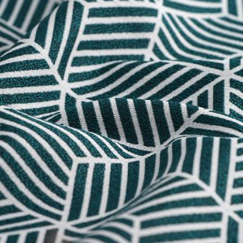 Tissu jacquard cubique vert