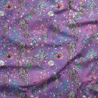 Tissu oxford pour chemise imperméable et recyclé sous l'océan - La Panda Love Fabrics